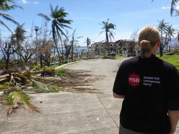 MSB i Tacloban,  Filippinerna